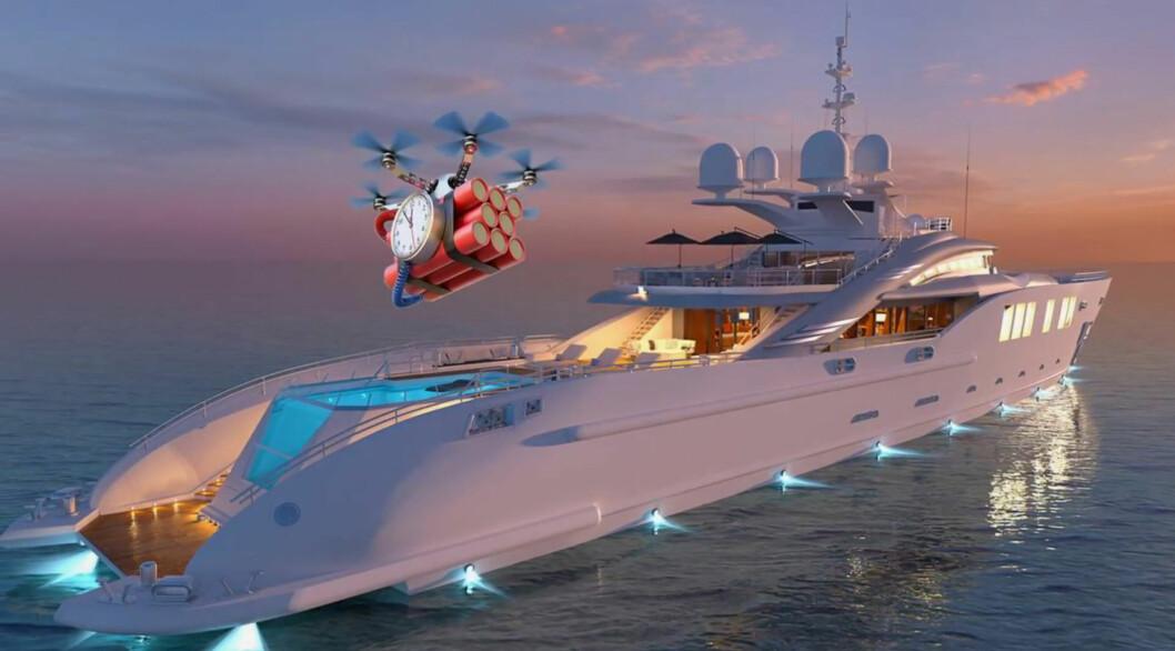 DRONEKRIG: Martek Marine tilbyr teknologi som oppdager droner på 20 kilometers avstand og setter dem ut av spill.
