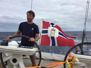 RASK: Kjell Inge Heiberg med familie ledet lenge ARC+ mot Kapp Verde, men fikk etter hvert en begrenset seilgarderobe.