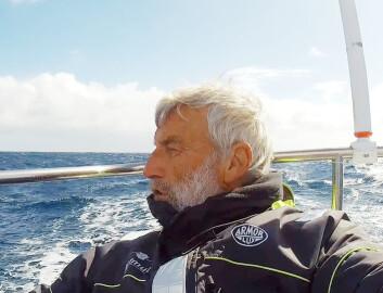 KAPP HORN: Jean-Luc Van Den Heede er den eneste båten rundt Kapp Horn, og er på vei hjem.