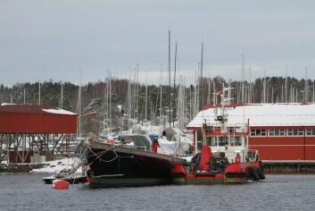 SON: Etter mange års byggetid ved trebåtverftet i Arkangels i Russland kom «Britannia» til Son i 2009.