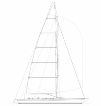 RASK: Mye duk, lang vannlinje, lettdrevet skrog og tung kjøl. Det er oppskriften på en rask seilbåt.