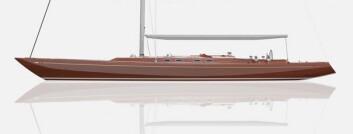 STIL: Skroget kan kles mahogny for å gi et inntrykk av at båten er laget i tre.