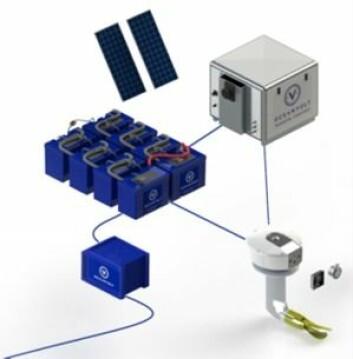 HYBRID: Om bord i Arcona 410H er dieselmotoren erstattet av et diesel-elektrisk driftssystem fra den finske produsenten Oceanvolt. Systemet består av en elektrisk motor montert på et seildrev, en Lithium batteribank, solceller, ...