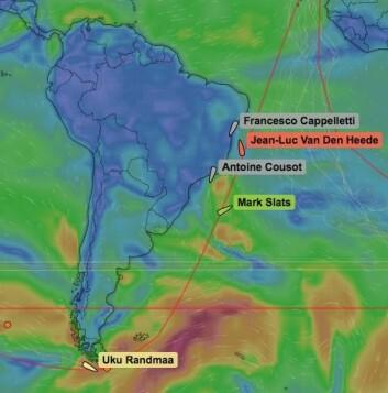BRASIL: Slats og Van den Hedde krysser seg oppover langs kysten av Sør Amerika.