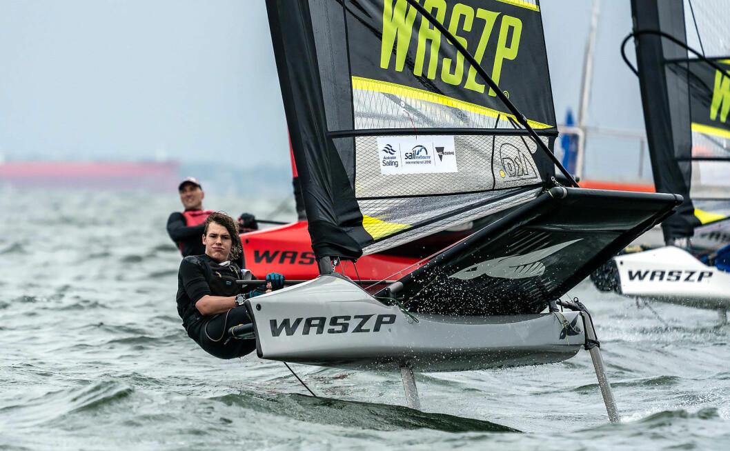I VINDEN: Foilende seiling med Waszp er i vinden, og i 2019 får klassen sitt første NM.
