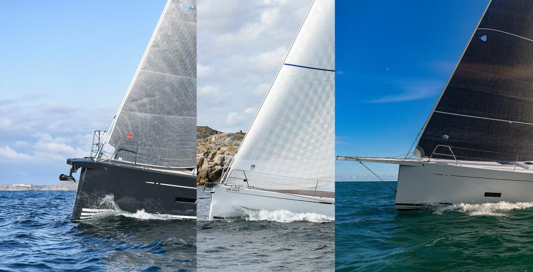RASKE: X4.6, Arcona 436 og Grand Soleil 48 er nominert i klassen for de raske seilbåtene.