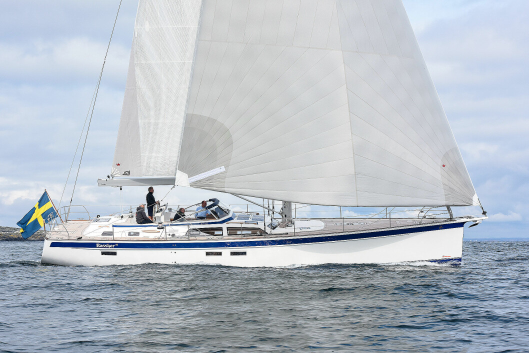 ELEGANT: Hallberg-Rassy 57 er en langbeint og luksuriøs seilbåt med moderne ideer.