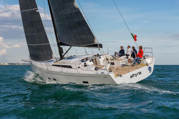 ITALIENSK: Grand Soleil 48 er tilpasset ORCi. Testbåten er rigget for regatta.