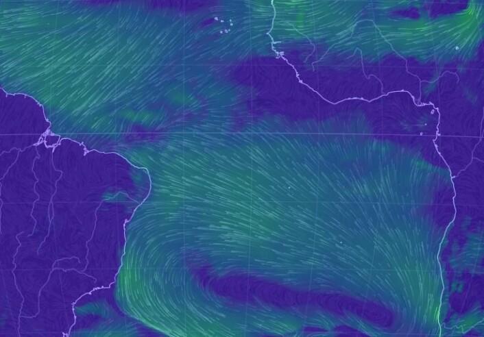 Vindkart 23.12 Atlanterhavet