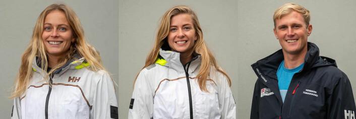 A-LANDSLAG: Helene Næss, Marie Rønningen og Hermann Tomasgaard utgjør Norges A-landslag i seiling i 2019.
