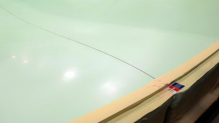 FORM: Støpeformen for nye Pogo-båten viser innhule linjer bak mot hekken.