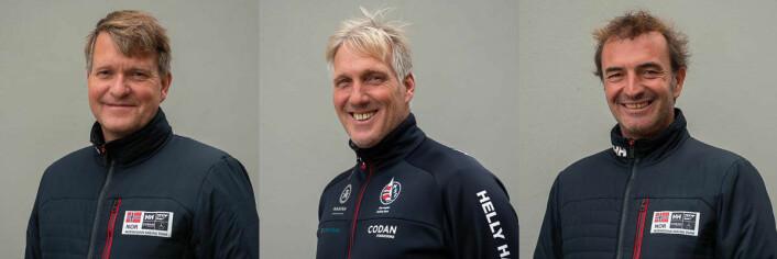 TRENERE: Thomas Guttormsen (t.v), Espen Guttormsen og Anton Garotte er i første rekke de trenerne som skal hjelpe OL-håpene i å oppnå gode plasseringer i de to neste årene.
