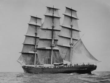 FULLRIGGER: «Cutty Sark» kunne seile over 300 nm per døgn, men krevde et stort mannskap. Skipet var bare 65 meter.