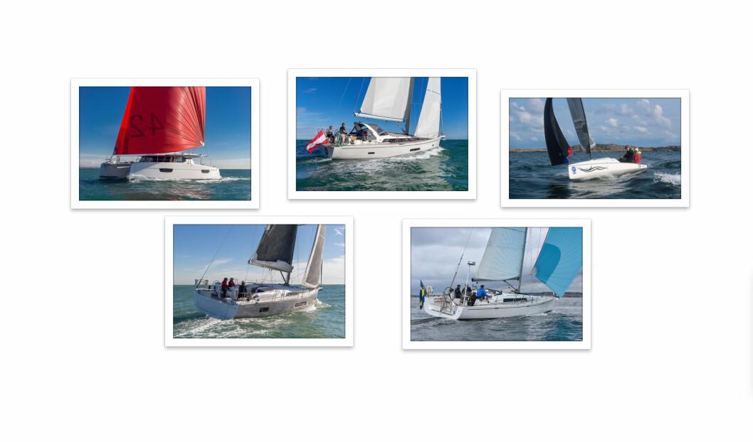 Vinnere: Tre franske, en svensk og en fra Østerrike gikk til topps i Årets Båt i Europa 2019.