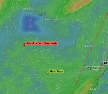 HØYTRYKK: Båtene må på vestsiden av Azorene for å unngå kryss.