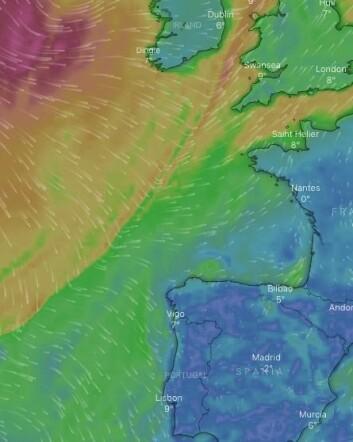 VIND: Endelig er det gode forhold for en rask seilas sydover i Nord-Atlanteren.
