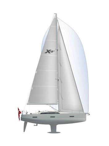 RASK: X4.0 får mye seil og en tung kjøl. Det skal gjøre den rask og trygg.