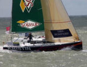 Kristin Songe-Møller seiler som eneste skandinav den tøffe Figaro-klassen i Frankrike.