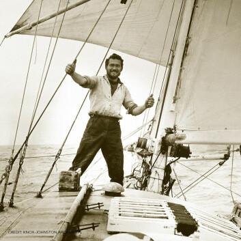 UNG: Knox-Johnston var bare 30 år da han seilte rundt jorda alene for 50 år siden.