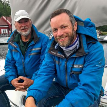 FAR OG SØNN: Yngve Lønmo har alltid seilt sammen med faren Asbjørn - og gjør det fortsatt.