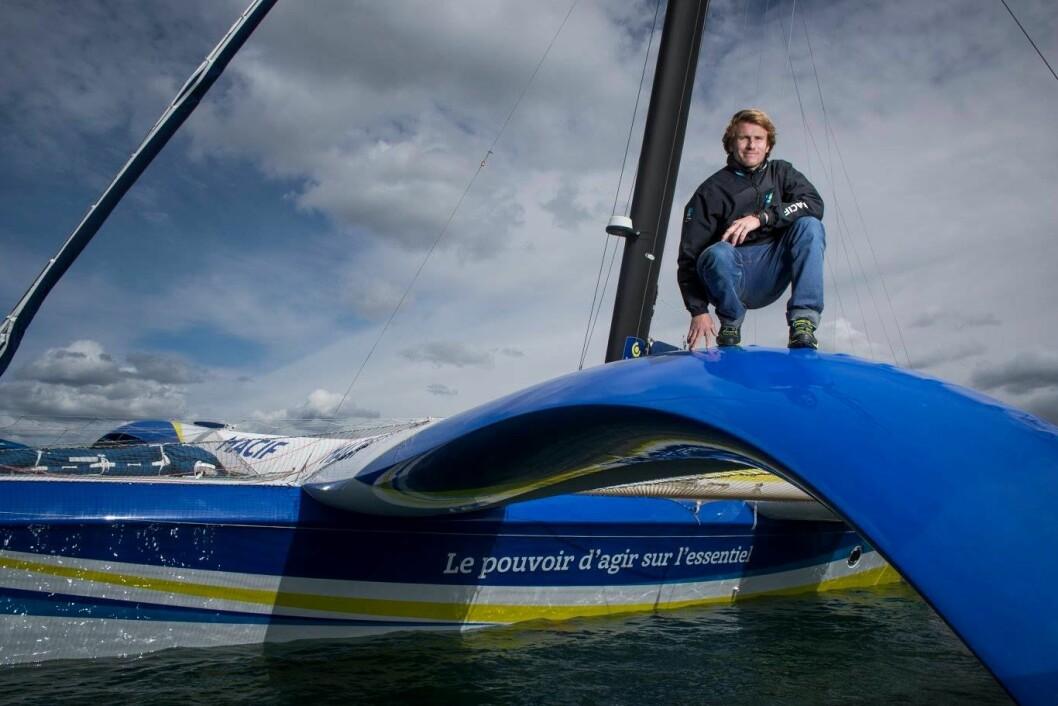 FAVORITT: Francois Gabart er favoritt i den største klassen. Forventet tid er 8 døgn.