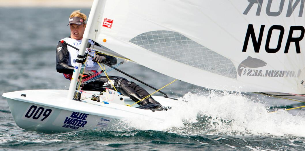 FORBEREDT: Hermann Tomasgaard er forberedt på å måtte forsvare ledelsen han har opparbeidet i de tre siste seilasene i verdenscupen i Miami.