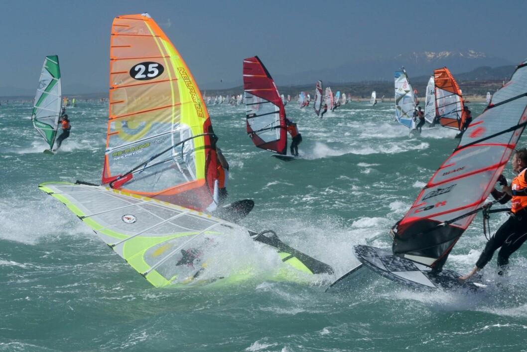 VIND: I fjor var det svært mye vind. Det skapte problemer for mange av deltagerne.