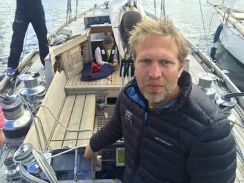 FORNØYD: Peter Ennals satser på å videreføre Hurum Trebåtfestival. Han var både arrangør og deltager med sin 12 m spissgatter «Lady»