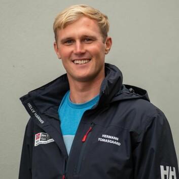 LASER: Thomasgaard har vokst opp i Drøbak, men seiler nå for KNS.
