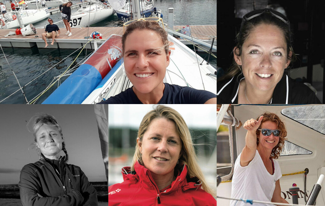 KLARE: Fem jenter er klare for Vendee Globe 2020. For fire år siden var det ingen.