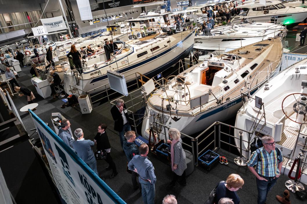 BRUKT: Båtmessen i Göteborg har sluppet inn båtmeglere. Interessen er stor.
