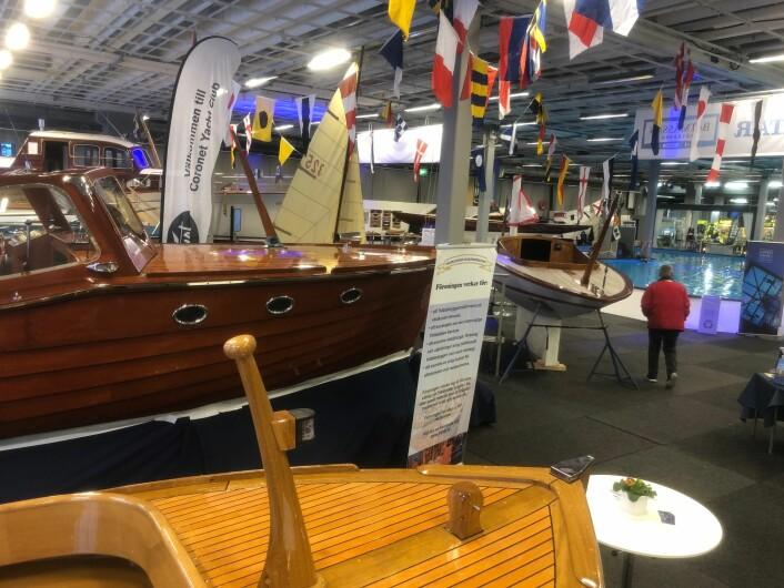 TRE: Det er egen hall for veteranbåter på enssen i Göteborg.