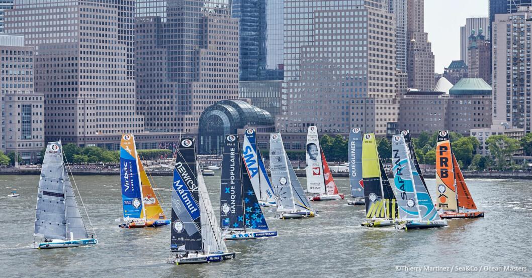 16_12072  ©Th.Martinez/Sea&Co/OSM.  NEW YORK CITY - NEW YORK- USA. 29 MAY 2016. Start of NEW YORK-VENDEE (Les Sables d?Olonne) presented by Currency House & SpaceCode, (Single-Handed transatlantic sailing race from New York-USA to Les Sables-FRA ...