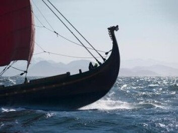 STORT: Draken Harald Hårfagre er 115 fot langt, 8 meter bred og bærer 260 kvadratmeter med seil.