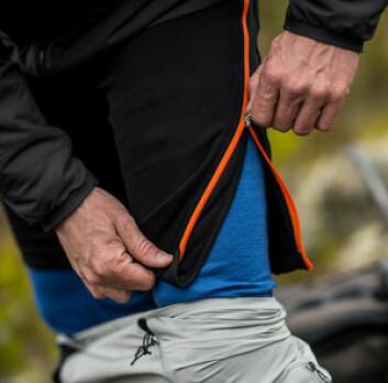 GLIDLÅS: Med glidlås i hver side kan shortser og stillongs lett taes på. Det er prinsippet til Zipwear.