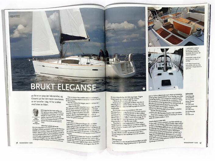 OPPSLAG: Beneteau Oceanis 40 var bruktbåten vi presenterte i SEILmagasinet 1-2019.
