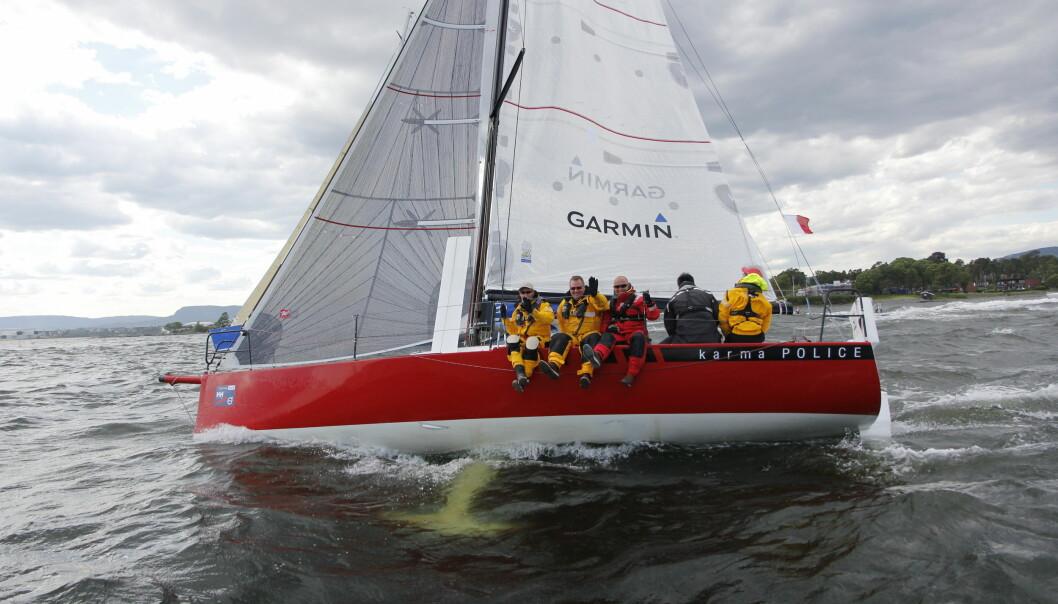 LITEN: «Karma Police» er bare 30 fot, men skal seile like kjapt som 45+ båtene.