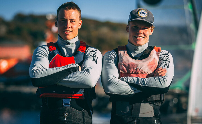 MALLORCA: Første sjanse til å vise hva vinteren trening har resultert i, får Mads og Tomas Mathisen under regattaen på Mallorca i begynnelsen av april.