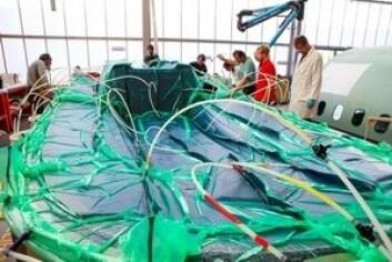 PLAST: Båten er støpt med plast som kan smeltes og brukes på nytt.