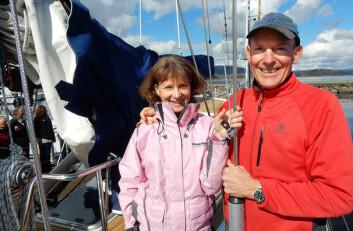 EKSPERTER: Amanda og John Neal var i Norge for å holde foredrag om Stillehavet, og om seiling i hard vær i helgen.