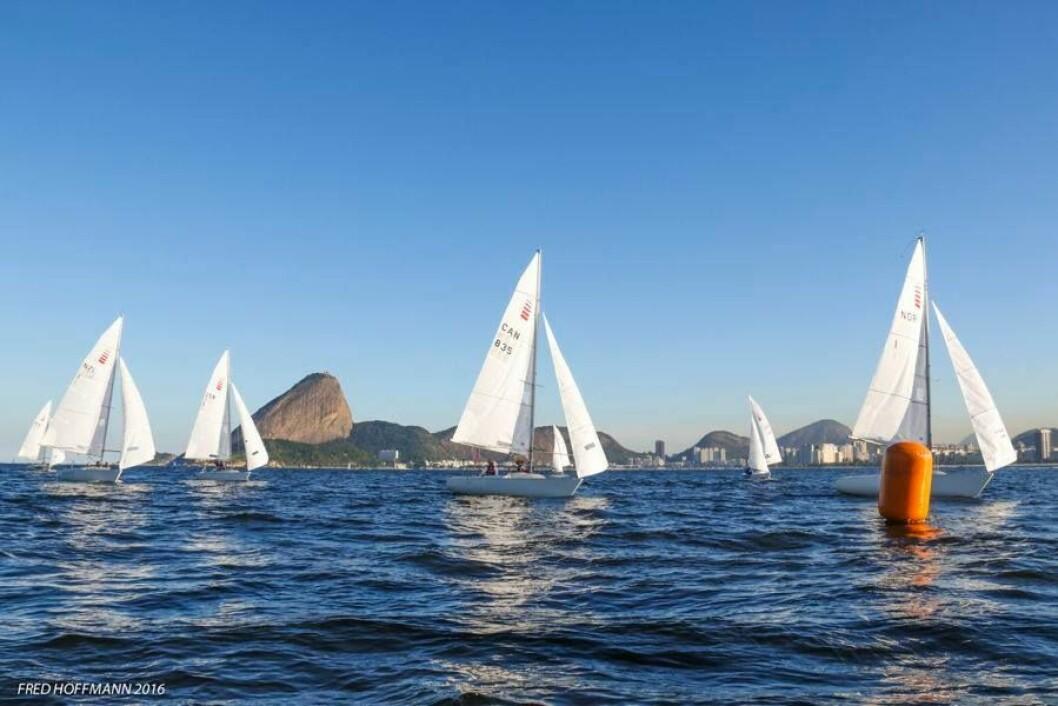 I TET: Det norske Sonar-laget vant en siste treningsregatta i Rio før paralympics i september