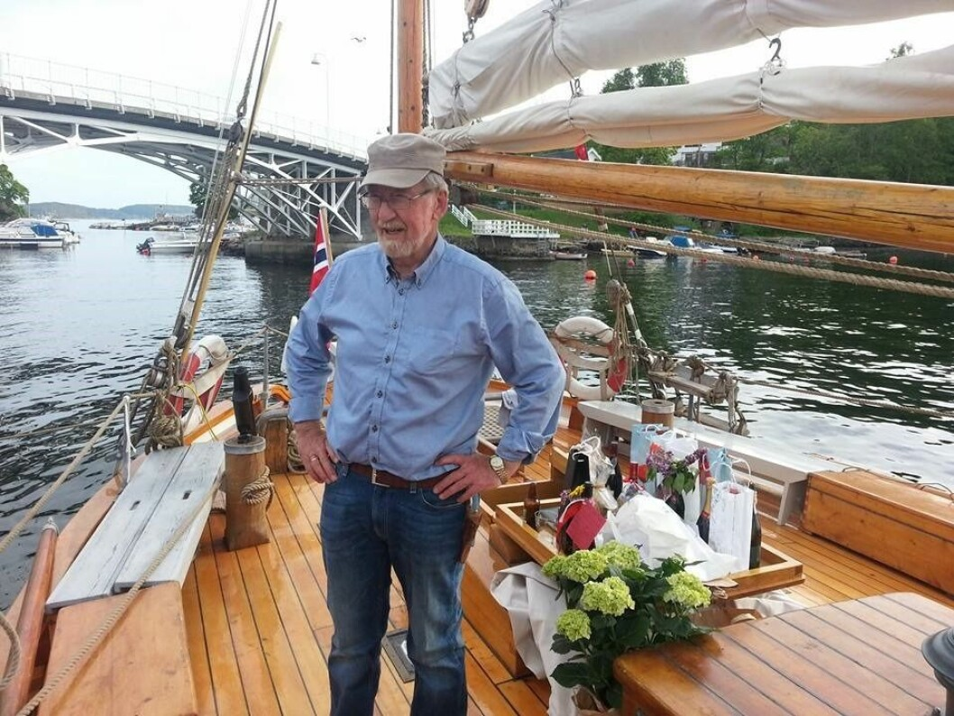 REDNINGSKJØYTE: Knut von Trepka har holdt «RS1 Colin Archer» i 45 år.