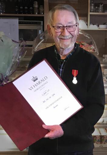 MEDALJE: Knut von Trepka med heder for god innsats.