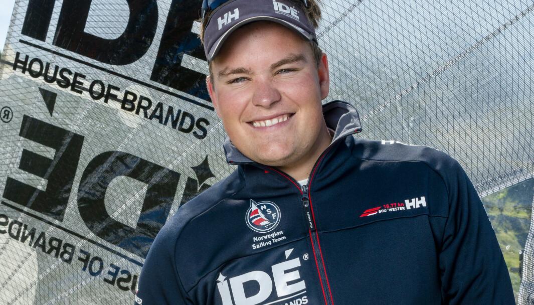 Anders Pedersen fikk fart på båten mot slutten av regattaen og ble vår bestemann i Kiel
