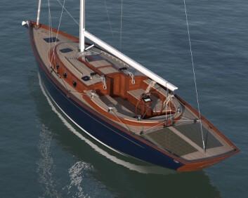 ENERGI: Spirit 44e skal være selvforsynt med strøm. Den får solcellepaneler på akterdekket, samt i seilene.