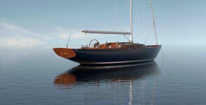 KLASSISK: Spirit Yacht bygger kundetilpassete båter i tre. 44-foteren blir en av de minste de har bygget.