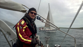 KURS: Geir Evjen på vei mot Island.