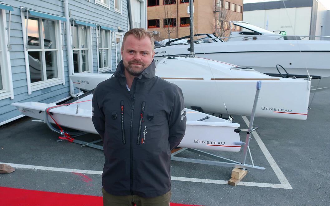 FIRST: Christian Lund har god tro på Seascape som nå heter First.