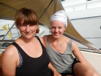 PÅ VEI: Emilie Ørn Kreyberg og Elise Pernille Gryt la ut fra Oslo 2. juli.