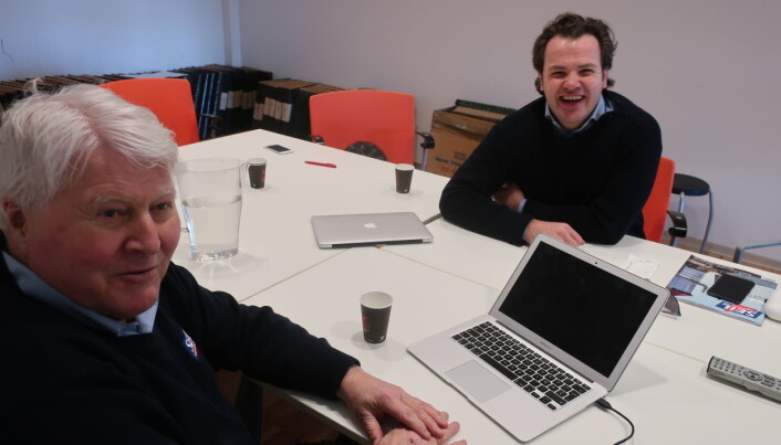 OPPTAK: Christian Løken i samtale med Mikkel Thommesen i mars 2019.